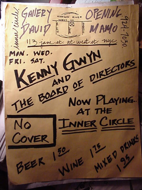 Poster advertising Kenny Gwyn u0026 The Board of Directors Debut at the ...