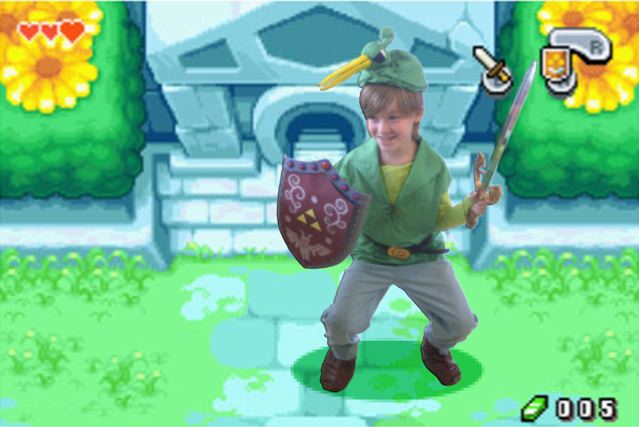 Elliot as Link in Hyrule
